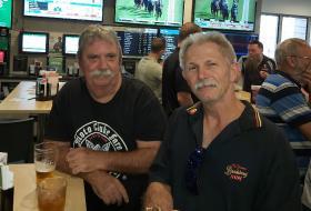 L-R Mark Purvis & Mike O'Brien