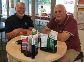 L-R- Russell Gordon & Steve Williams