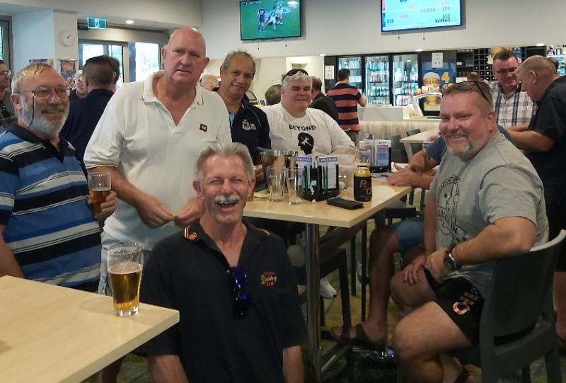 L-R - Mike O'Brien, Matt Payne, Brian Robb, Rocky Hema, Paul Scarr &Tony Earwaker